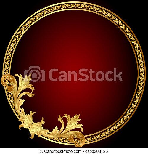 frame  with gold(en) pattern on circle - csp8303125