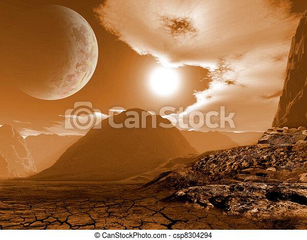 Fantasy landscape - csp8304294
