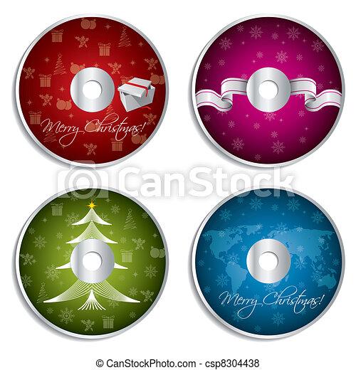 Vectors Illustration of CD DVD Label Set - CD DVD label set for ...