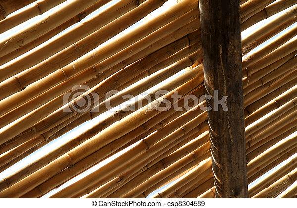 stock fotografien von bambus dach a bambus dach. Black Bedroom Furniture Sets. Home Design Ideas