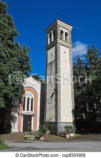 Church of the Assumption. Bettola. Emilia-Romagna. Italy. - csp8304906