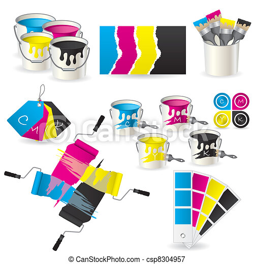CMYK coloring set  - csp8304957
