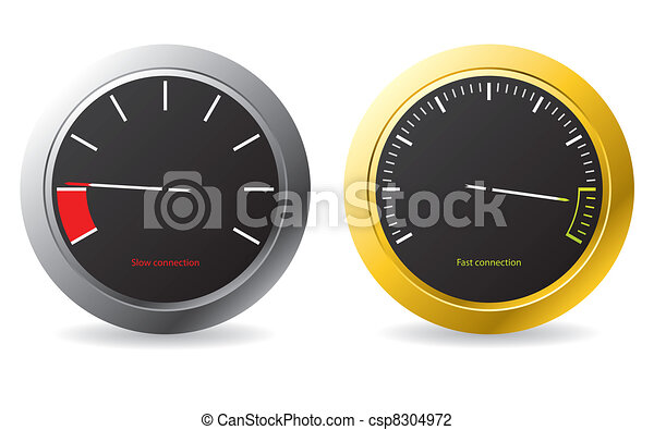 Silver and gold framed speedometers  - csp8304972