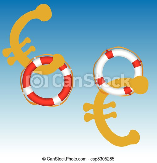 euro rescue by live saver vector illustration - csp8305285