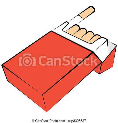 Vectors Illustration Of Cigarettes Package Illustration