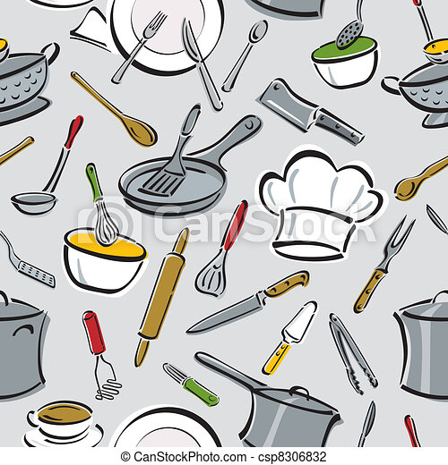 Kitchen Tools Pattern - csp8306832