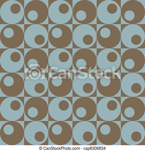 Circles In Squares_Blue-Brown  - csp8306834