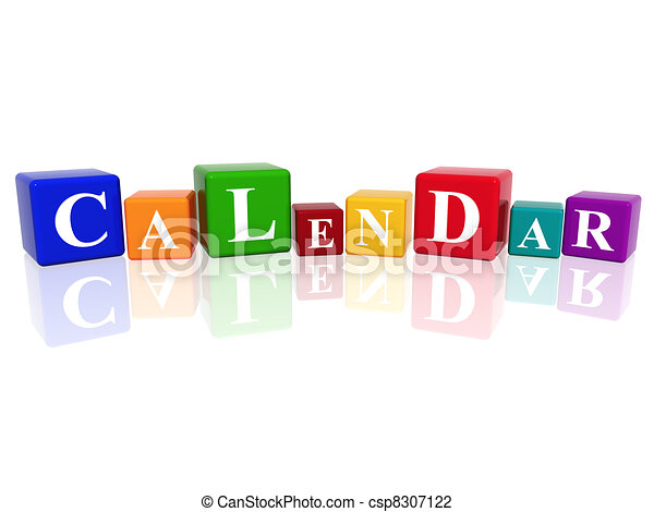 calendar in 3d cubes - csp8307122