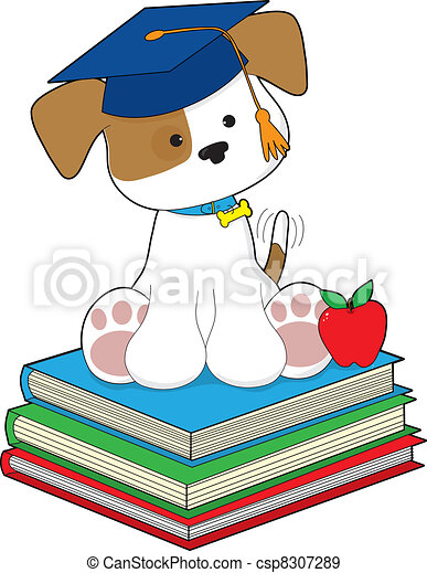 Cute Puppy Graduate - csp8307289