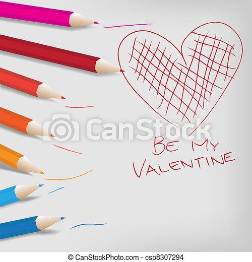 Valentine Day Background - csp8307294