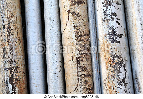 Rusted Old Metal Pipes - csp8308146