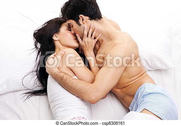 Young Couple In Loving Embrace - csp8308161