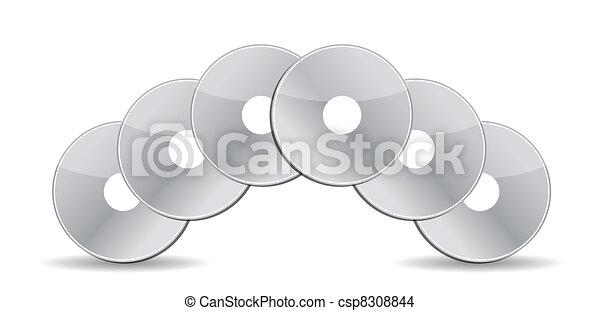 stack of cd / dvds illustration - csp8308844