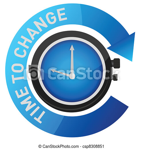 time to change concept illustration - csp8308851