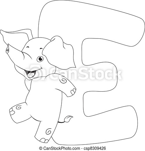 Coloring Page Elephant - csp8309426