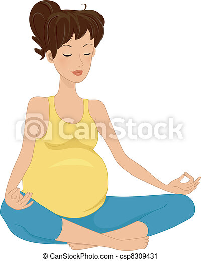 Pregnancy Meditation - csp8309431