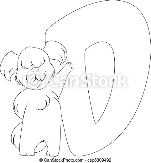Coloring Page Dog - csp8309492