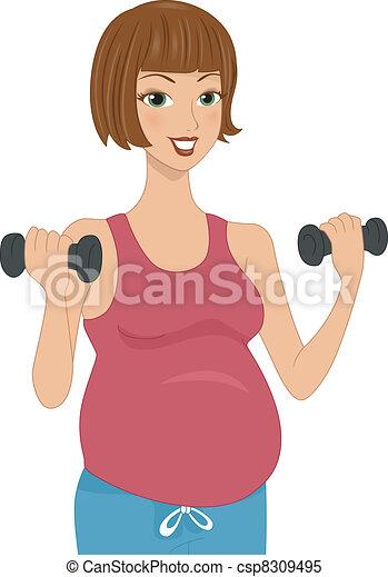 Pregnancy Workout - csp8309495