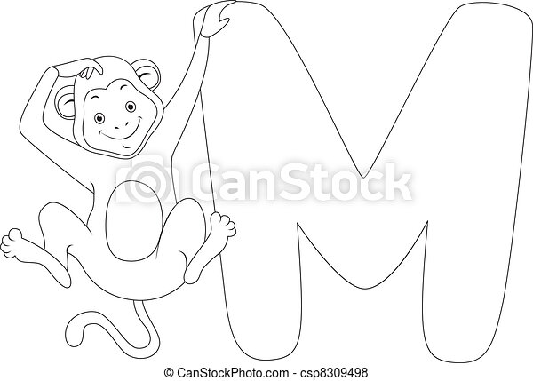 Coloring Page Monkey - csp8309498