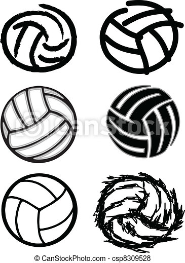 Volleyball Ball Vector Image Icons - csp8309528
