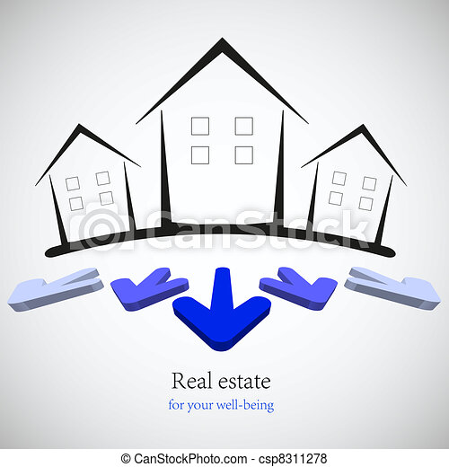 concept real estate for your business. Vector illustration. Best choice - csp8311278