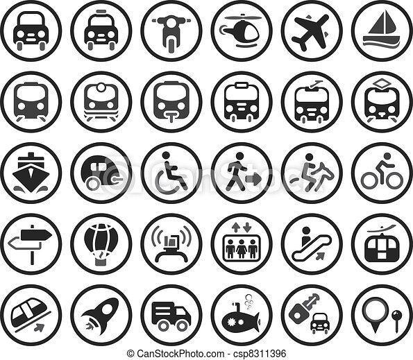 Transportation vector icons set - csp8311396