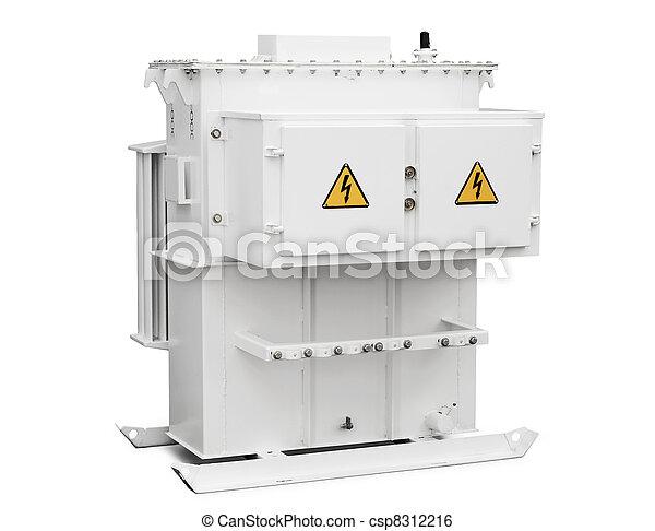 high-voltage transformer on a white background - csp8312216