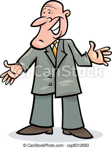 cartoon man in suit - csp8312693