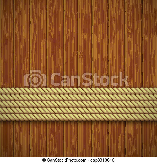 Wooden texture. Vector illustration - csp8313616