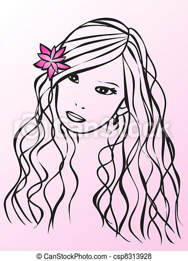 Glamour girl - csp8313928