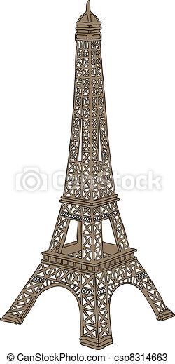 Eiffel tower in Paris, France - csp8314663