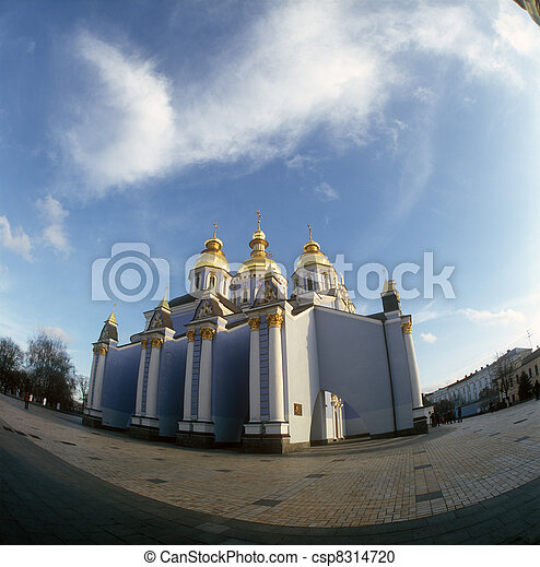 St. Michael cathedral. Kyiv, Ukraine. - csp8314720