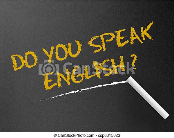 Chalkboard - Do you speak english? - csp8315023
