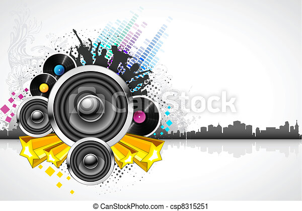 Abstract Musical Background - csp8315251