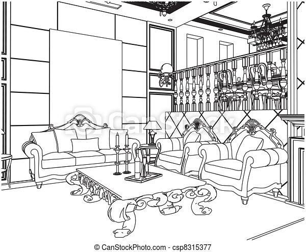 Living Room - csp8315377