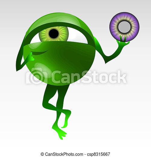 Eyeball mascotte - csp8315667