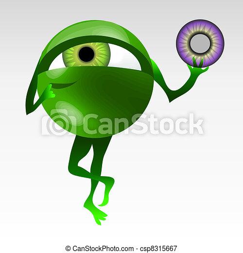 Eyeball mascotte - csp8315667