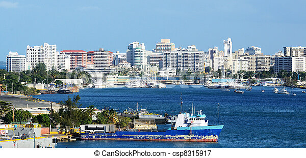 San Juan, Puerto Rico Skyline - csp8315917