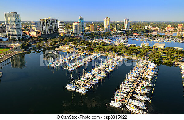 St. Pete Aerial View - csp8315922