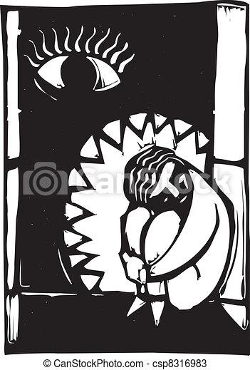 Jaws of Depression - csp8316983