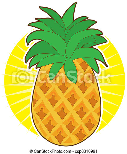 Pineapple Sun - csp8316991