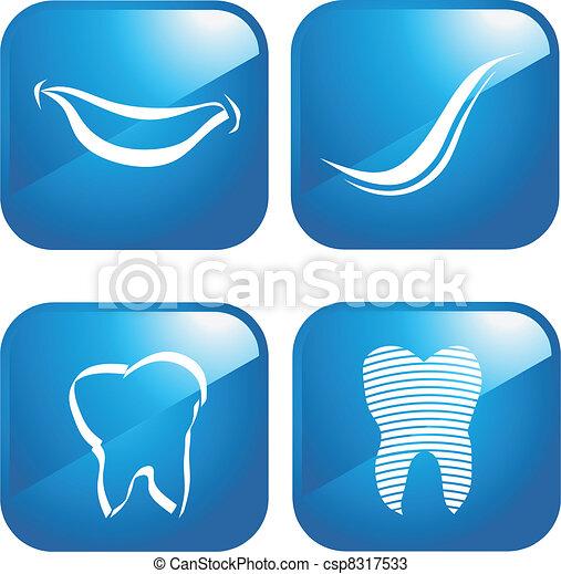 teeth and dental icons - csp8317533