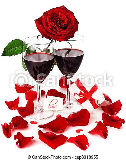 Romantic holiday celebration - csp8318955