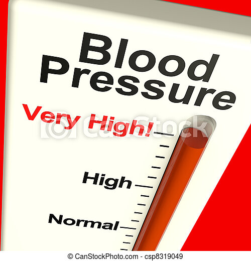 Very High Blood Pressure Showing Hypertension And Stress - csp8319049