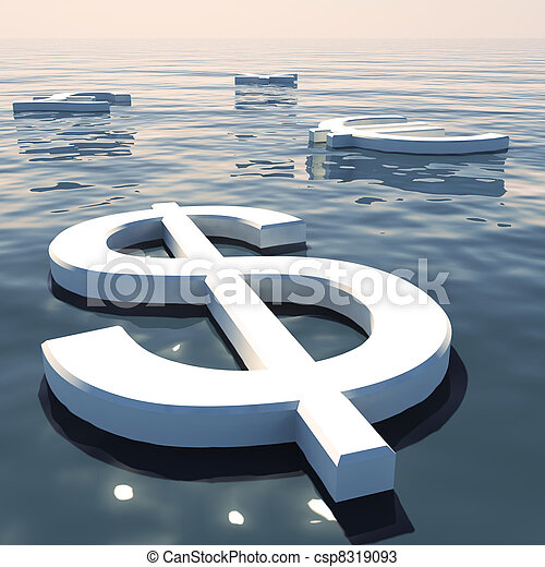 Dollar Floating And Currencies Going Away Showing Money Exchange And Forex - csp8319093