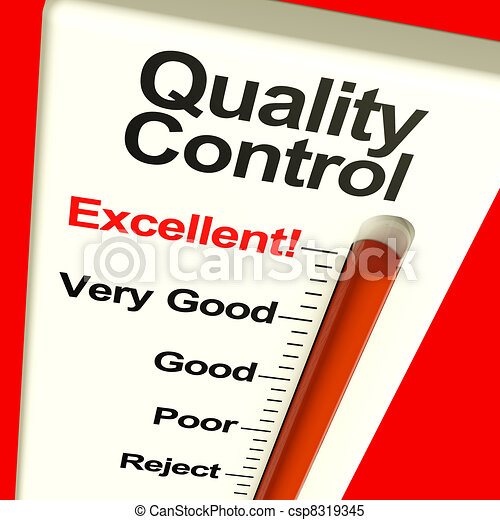 Quality Control Excellent Monitor Showing High Satisfaction And Perfection - csp8319345
