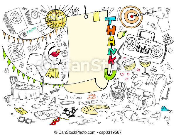 Thank You Doodle - csp8319567