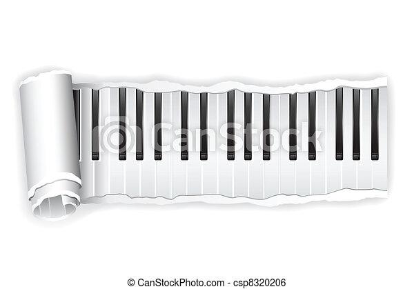 Paper Piano Key - csp8320206