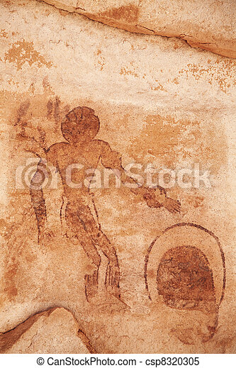 Rock paintings of Tassili N'Ajjer, Algeria - csp8320305