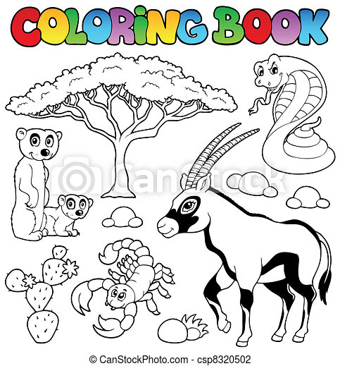 Coloring book savannah animals 1 - csp8320502